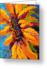 Sunflower Solo II Greeting Card by Marion Rose