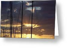 SUNLIGHT - ILE DE LA REUNION Greeting Card by FRANCOISE LEANDRE