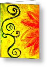 Sunny Day Red Greeting Card by Gwyn Newcombe