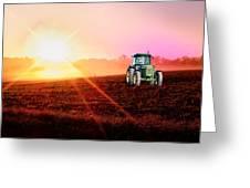 Sunny John Deere Greeting Card by Kelly Reber