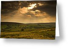 Sunrays Through Clouds, North Greeting Card by John Short