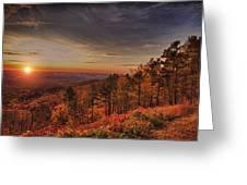 Sunrise 2-talimena Scenic Drive Arkansas Greeting Card by Douglas Barnard