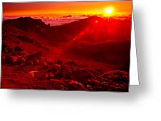 Sunrise Haleakala Greeting Card by Harry Spitz