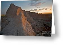Sunrise In Badlands Greeting Card by Chris  Brewington Photography LLC