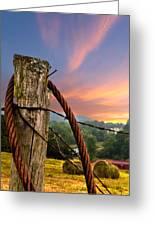 Sunrise Lasso Greeting Card by Debra and Dave Vanderlaan