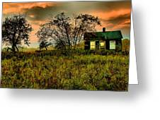 Sunrise On The Prairie Greeting Card by Matthew Winn