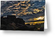 Sunrise over Little Round Top Greeting Card by Dave Sandt