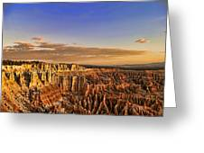 Sunrise Over The Hoodoos Greeting Card by Anne Rodkin
