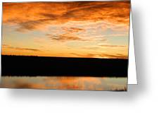 Sunrise reflections Greeting Card by Sara  Mayer
