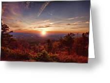 Sunrise-talimena Scenic Drive Arkansas Greeting Card by Douglas Barnard