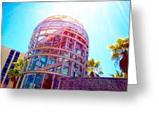 Sunroof Tower Greeting Card by Romy Galicia
