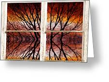 Sunset Abstract Rustic Picture Window View Greeting Card by James BO  Insogna