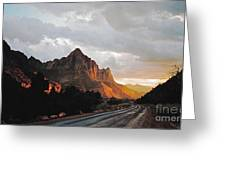 Sunset After The Storm In The Canyon Greeting Card by Byron Varvarigos