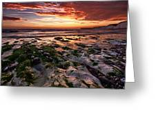 Sunset At Birling Gap Greeting Card by Mark Leader