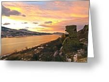 Sunset At Horsetooth Dam Co. Greeting Card by James Steele