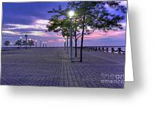 Sunset At The Plaza Greeting Card by David Bearden
