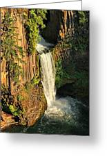Sunset At Toketee Falls Greeting Card by Winston Rockwell