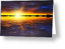 Sunset By The River Greeting Card by Svetlana Sewell