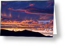 Sunset Greeting Card by David R Frazier and Photo Researchers