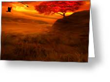 Sunset Duet Greeting Card by Lourry Legarde