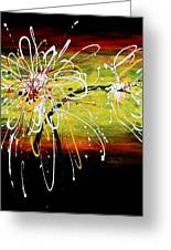 Sunset Flowers Greeting Card by Kume Bryant