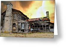 Sunset Homestead Greeting Card by Marty Koch