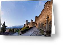 Sunset in Carcassonne Greeting Card by Robert Lacy