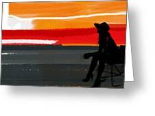 Sunset In Hamptons Greeting Card by Naxart Studio