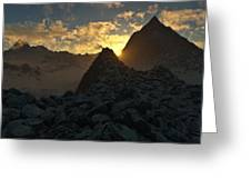 Sunset In The Stony Mountains Greeting Card by Hakon Soreide