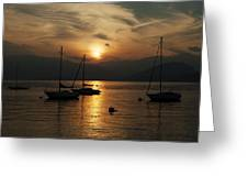 Sunset Lake Maggiore Greeting Card by Joana Kruse