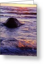 Sunset Lights Greeting Card by Konstantin Dikovsky