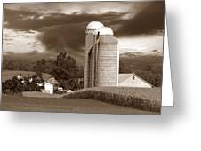 Sunset On The Farm S Greeting Card by David Dehner