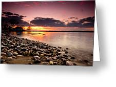 Sunset On The Rocks Greeting Card by Cale Best