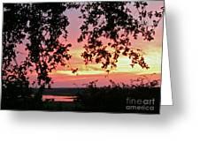 Sunset Over Canyon Lake Greeting Card by Randi Shenkman