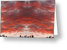 Sunset Panorama Psychedelic Trance Greeting Card by James BO  Insogna