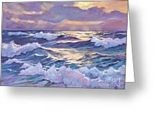 Sunset Santa Catalina Greeting Card by David Lloyd Glover
