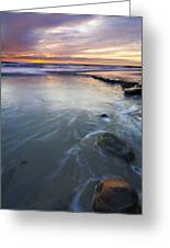 Sunset Storm Greeting Card by Mike  Dawson