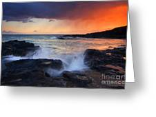 Sunset Storm Passing Greeting Card by Mike  Dawson