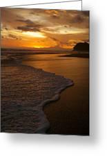 Sunset Surf Playa Hermosa Costa Rica Greeting Card by Michelle Wiarda