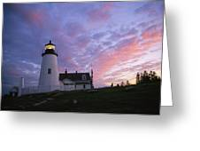 Sunset Tints The Sky Greeting Card by Stephen St. John