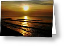 Sunset Waves Greeting Card by Colin Clancy