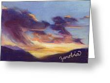 Sunset West Of Town Greeting Card by Zanobia Shalks