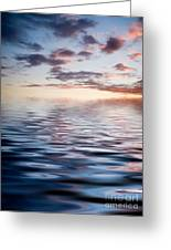 Sunset With Reflection Greeting Card by Kati Molin
