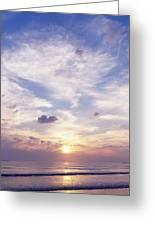 Sunsets Over The Beach, Magheraroarty Greeting Card by The Irish Image Collection