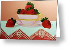 Sunshine In A Cup Greeting Card by Peggy Miller