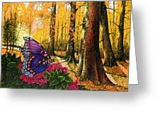 Sunshine Traveler-red Spotted Purple Greeting Card by Michael Frank