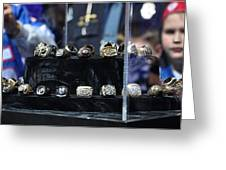 Super Bowl Rings Greeting Card by Brittany H