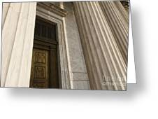 Supreme Court Entrance Greeting Card by Roberto Westbrook