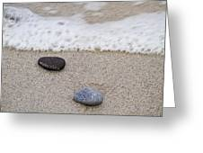 Surf Sand and Stones Greeting Card by TB Sojka