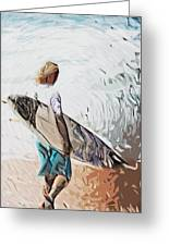 Surfer Greeting Card by Tilly Williams